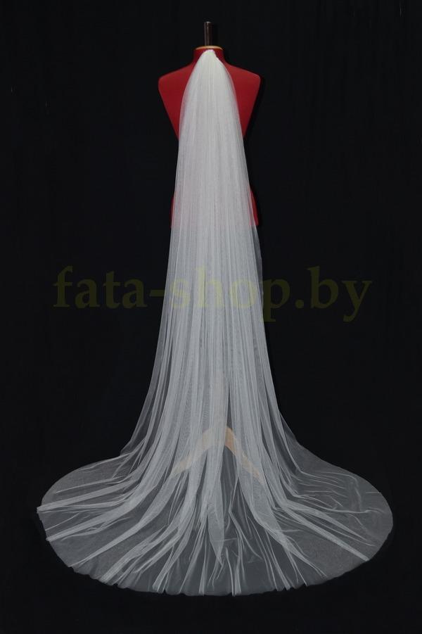 Фата длинная вышивка