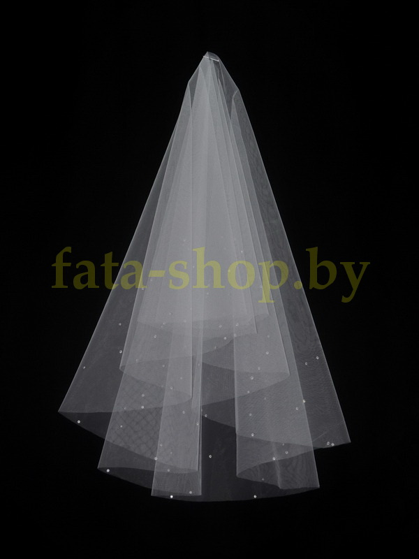 Фата с кристаллами двухярусная 2000kristall