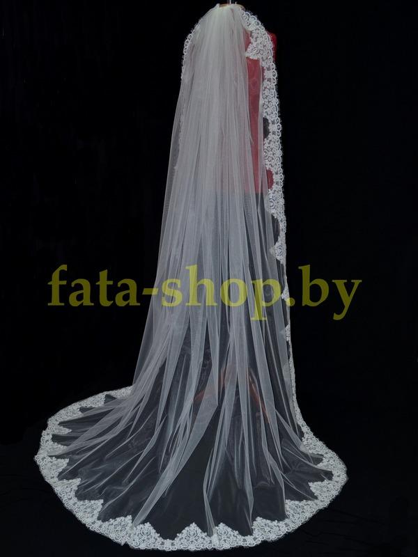 Фата длинная кружевная kord