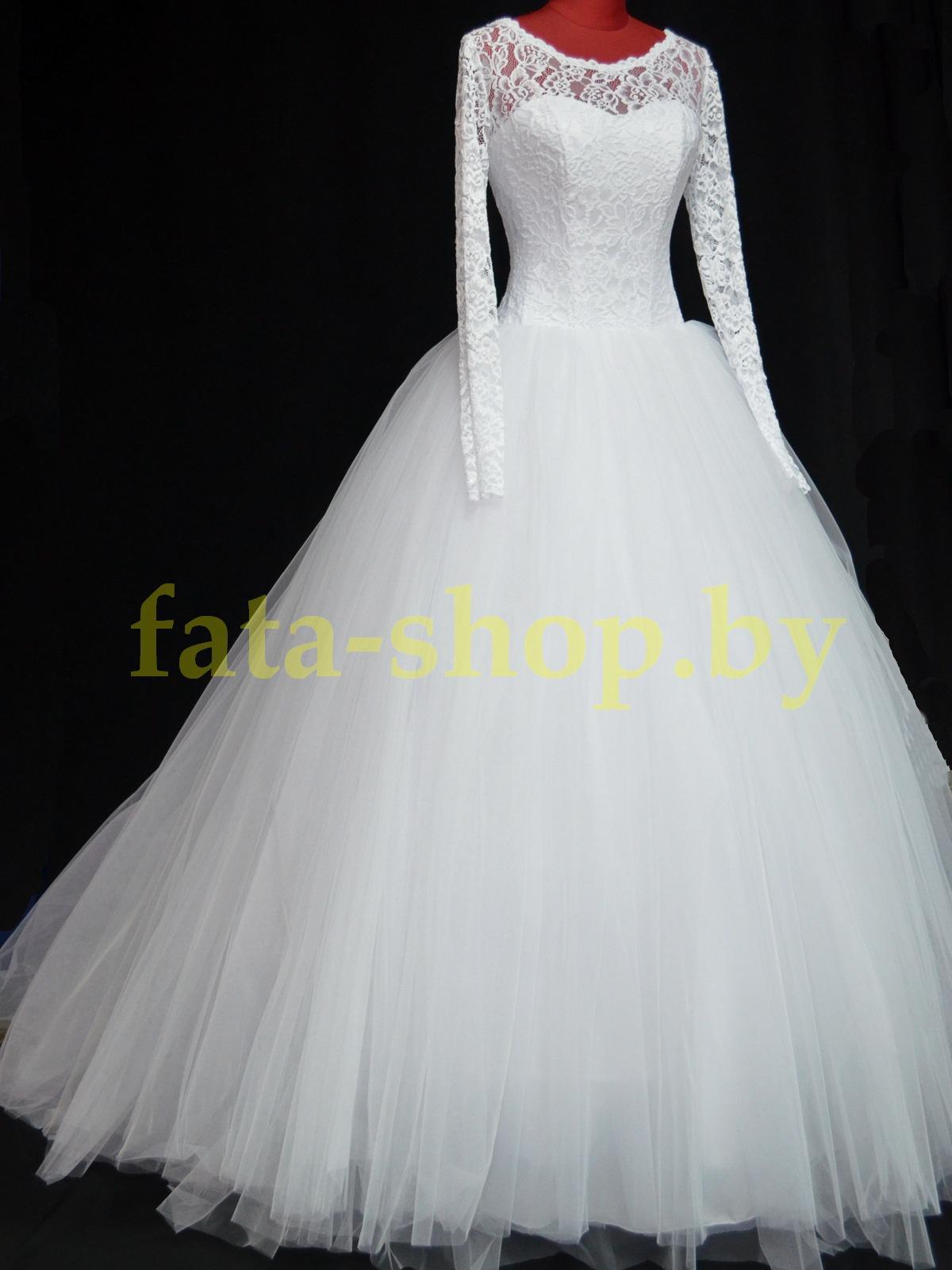 Пышное свадебное платье с рукавами R15303
