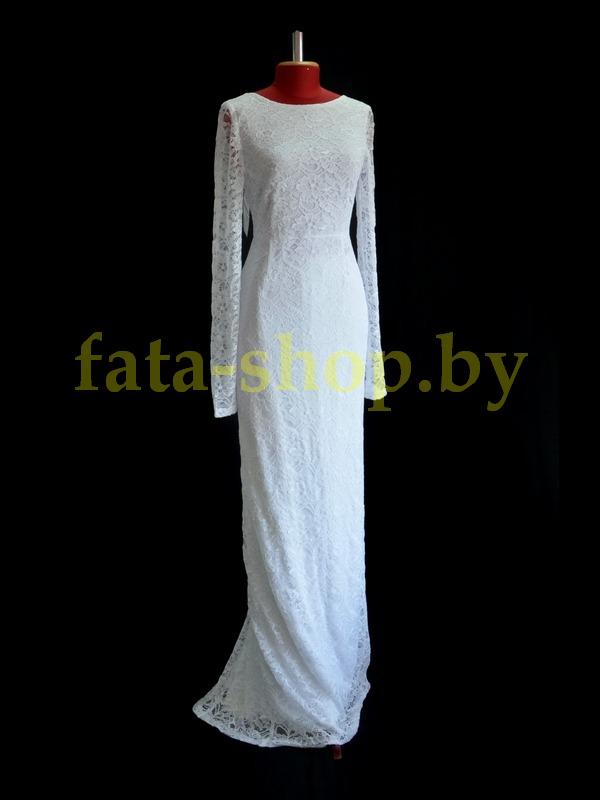 Непышное кружевное свадебное платье L114