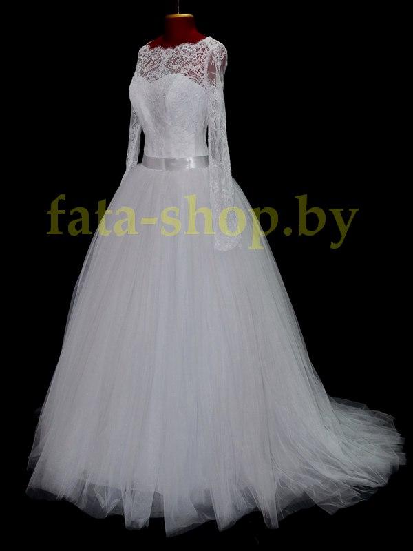 Пышное свадебное платье с рукавами R17029