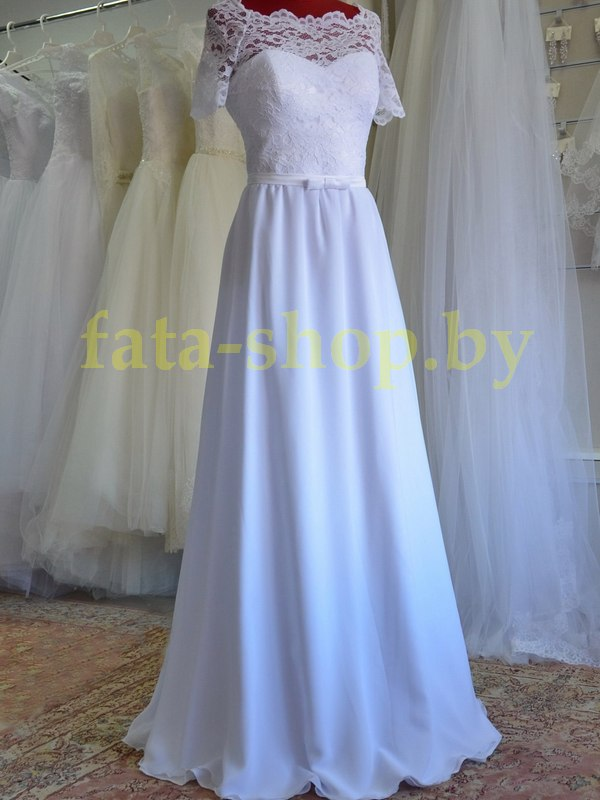 Непышное свадебное платье Р102